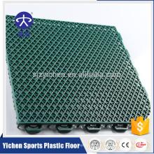 Double layer PP interlocking garage flooring tiles