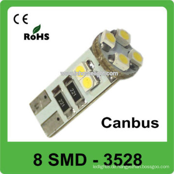 Hochwertige DC12V 8pc 3528 smd Canbus Auto Licht Lampe