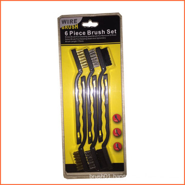 6PCS Plastic Handle Wire Set Brush (YY-573)
