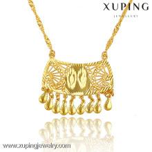 42843 Xuping Jewelry Women collier avec pendentif, collier de bijoux en or 24K dubai