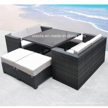 The Boca Grande Collection Cube Patio Outdoor Rattan Sofa Set