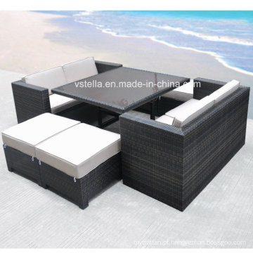 A Boca Grande Collection Cubo Pátio Outdoor Rattan Sofa Set