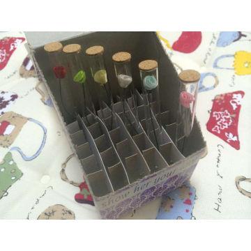 Bouteille en verre clair tubulaire 1,5 ml pour le parfum échantillons Pack