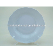 "8"" white porcelain cut-edge soup plate"
