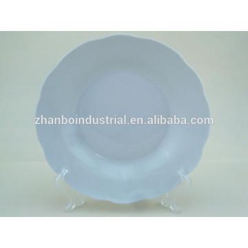 """Placa de sopa de corte de 8 """"de porcelana blanca de corte"""