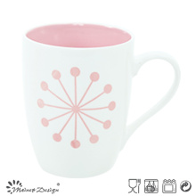 Outside White Inside Color Glaze 11oz Milk Mug