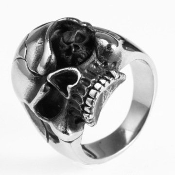 SGS Garansi stainless steel unisex skull head ring