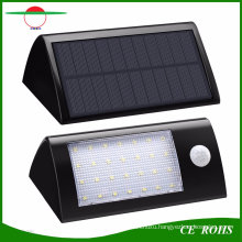 28LED Cambered Long Triangle High Lumen 560lm Solar Wall Mounted Light PIR Smart Solar Powered Garden Security Lamp with Changeable Battery