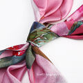 The Red Flowers Printed Scarf for Women