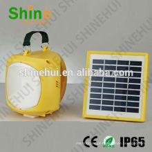 Alto brilho plástico ABS lanterna acampamento solar levou furacão lanterna