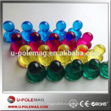 High quality magnetic plastic push pins with strong holder