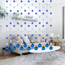 Neueste Design romantische Deep Blue Perlen Duschvorhang