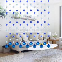 El más nuevo diseño romántico Deep blue beaded shower curtain