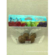 Transparent plastic ziplock bag for packaging fruit/ perforated fruit packaging bag