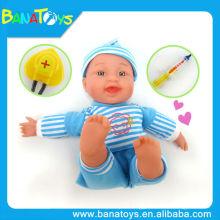 Lovely elétrica música bebê bonecas com médico conjunto