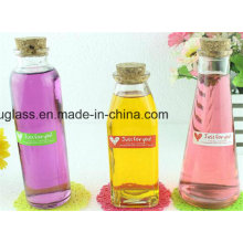 350ml Square Glass Bottles for Beverage, Juice Drinking