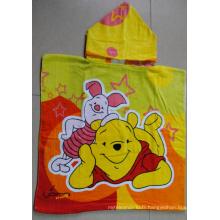 (BC-PB1013) Poncho de plage coloré 100 % coton imprimé pour enfants