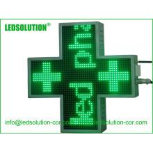 Signo de pantalla LED cruzada de gabinete de hierro al aire libre