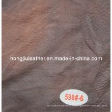 Vente chaude italienne moderne style canapé couleur foncée en cuir