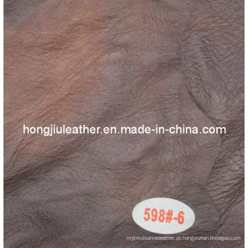 Venda quente italiano estilo moderno cor escura sofá de couro