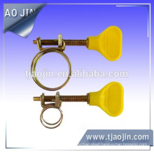 Double wire handle hose clamp,Double wire plastic handle hose clamp