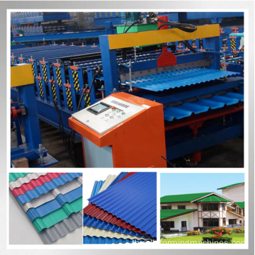 840 IBR และ 850 แผ่นม้วนลอน Double Layer Roll Forming Machine