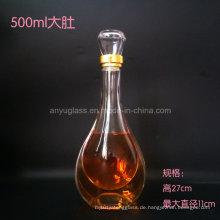 Anpassen Abziehbild Logo Hot Stamping Überlegene Glas Liquor Flasche