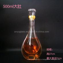 Настроить логотип наклейки Горячее тиснение Верхняя стеклянная бутылка с ликером