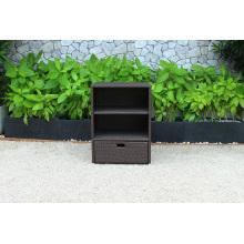 Cabinet de rangement en osier de rotin de peinture patio le plus vendu