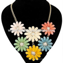 2015 Latest design daisy temperament short flower necklace