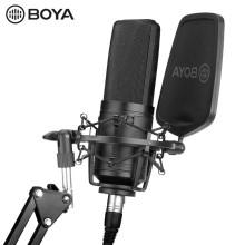 BOYA BY-M1000 Large Diaphragm Condenser Capsule Microphone for Singer Podcasting Artist Studio Mic