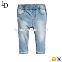 Mock front pockets wholesale kids jeans with elasticized waistband