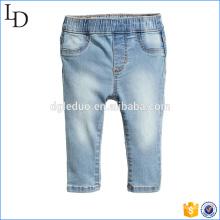 Mock bolsos frontais atacado crianças jeans com elástico na cintura