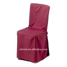 couverture de chaise de polyester, couleur Bourgogne CT385, couverture de chaise de banquet, 200GSM meilleure qualité