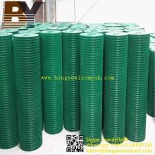 Malha de arame soldada reforçada com revestimento de PVC