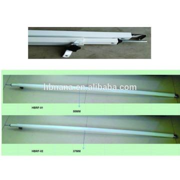 Wholsale adjustable steel tent pole / folding aluminum tent poles for tent