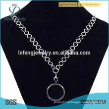 Collar de las cadenas finas de la manera del famale de las mujeres, cadenas plateadas plata del collar
