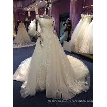 Новое Прибытие 2017 Принцесса свадебное платье с Собор поезд