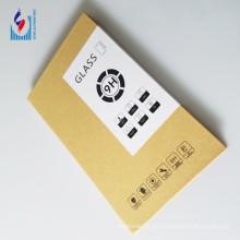 caja de empaquetado impresa logotipo de encargo de la pantalla de cristal del protector