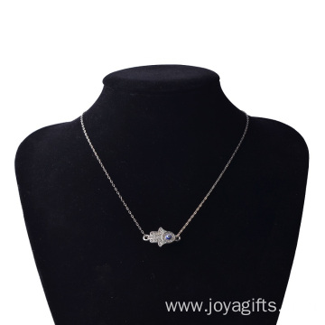 Charms Silver Hand of Fatima Alloy Necklace