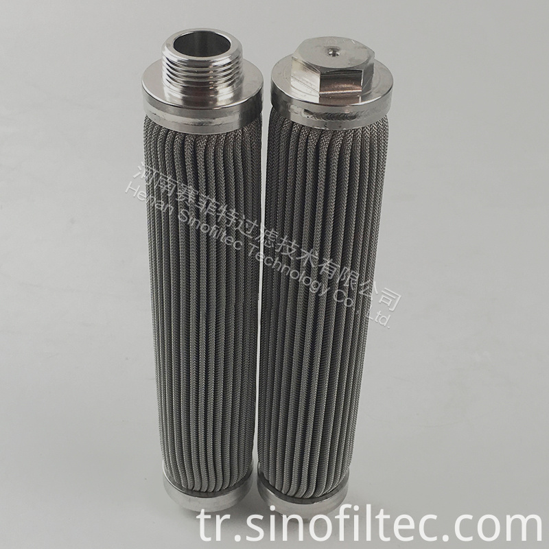Sintered Fiber Medium Pleated Element