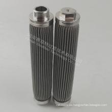 Elemento filtrante plisado medio de filtro de acero inoxidable