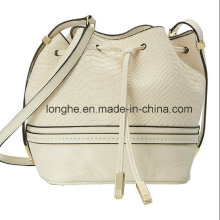 Chic PU Leather Ladies Drawstring Bucket Bag (ZXS0097)