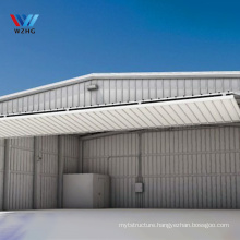 Low price prefabricated warehouse construction hangar tent structural steel building foldable hangar