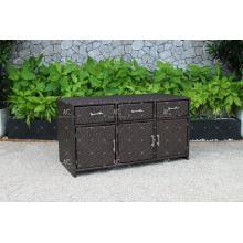 RACA-001 Cabinet de cuisine en plein air vendu à chaud Poly Rattan