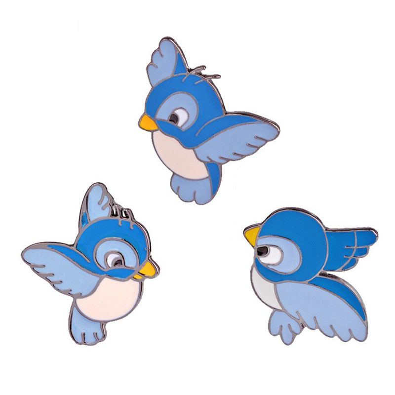 Cute Cartoon Bird Enamel Brooch Pins