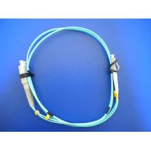 10g Om3 LC / PC-SC / PC Cables de conexión de fibra dúplex