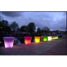 Projeto especial luz de vaso de flor decorativa