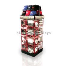 Starke Bodenbelag Sport Cap und Shirts Lagerung und Display Metall Multilayer Kleidungsstück Rack Gondel