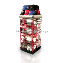 Strong Flooring Sports Cap And Shirts Storage And Display Metal Multilayer Garment Rack Gondola